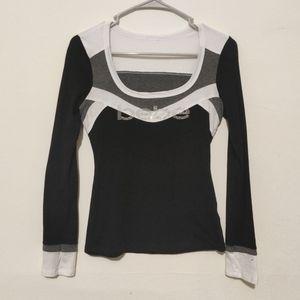 Bebe long sleeve top. Size small see pics ✨👀✨